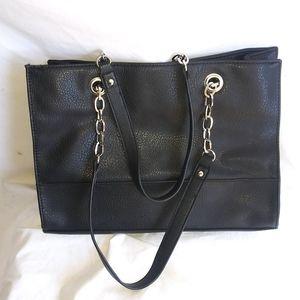 BUENO Black Shoulder Bag With Chain Strap